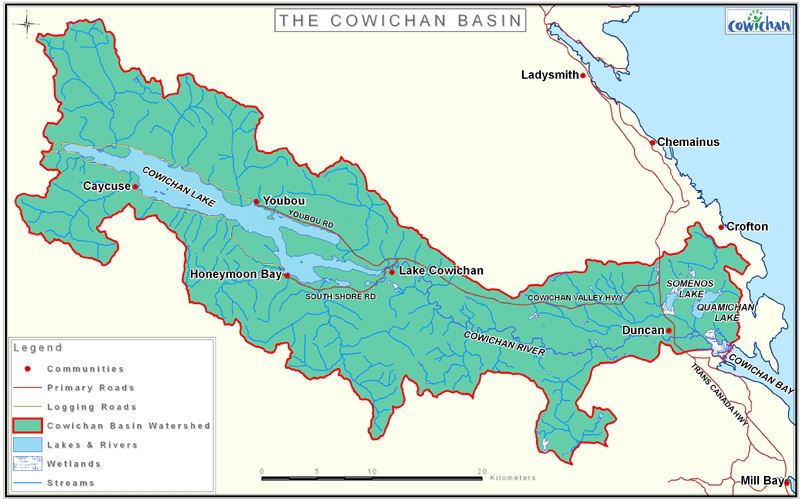 Cowichan Basin Basemap