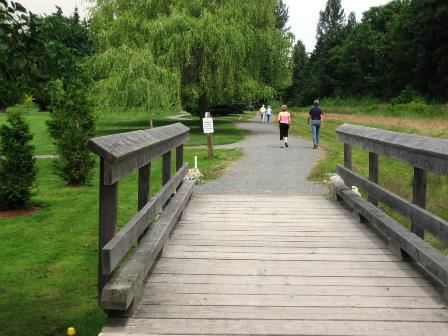 Cowichan Valley Trail - Chemainus section by golf course