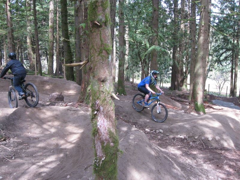 Youth riding at Cleasby bike park