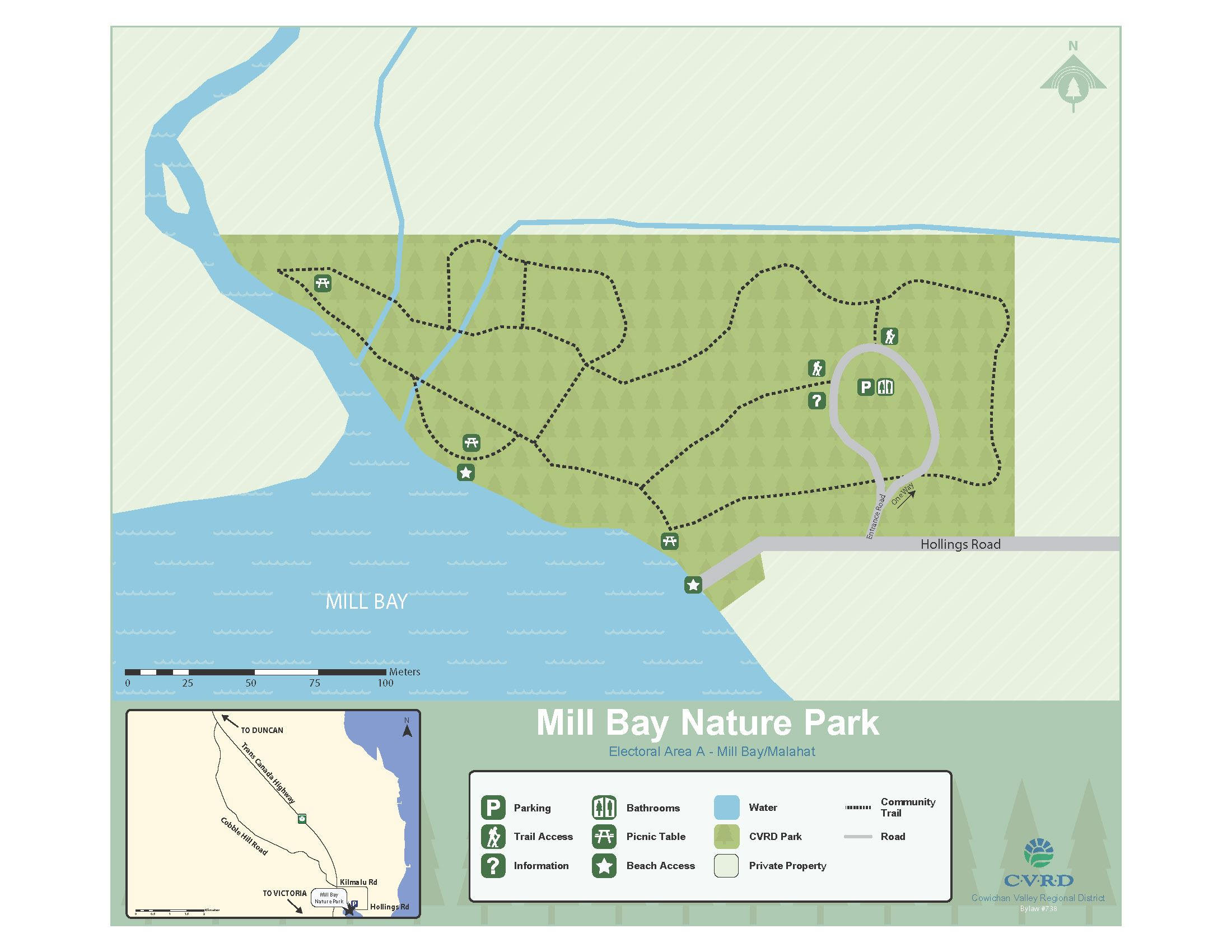 Mill Bay Nature Park Map