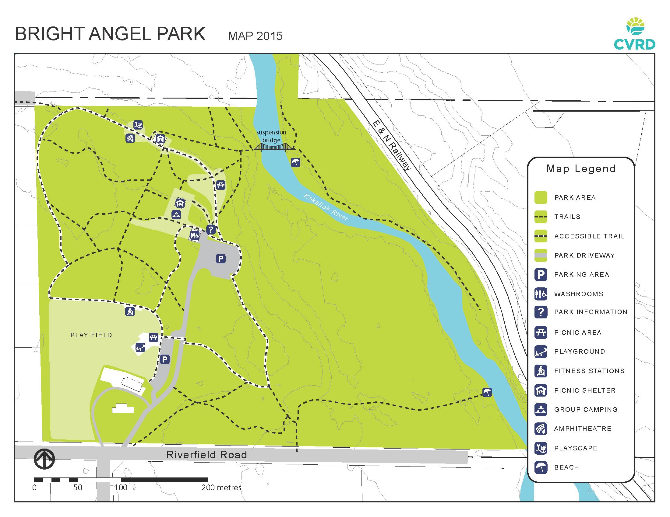 Bright Angel Park Map