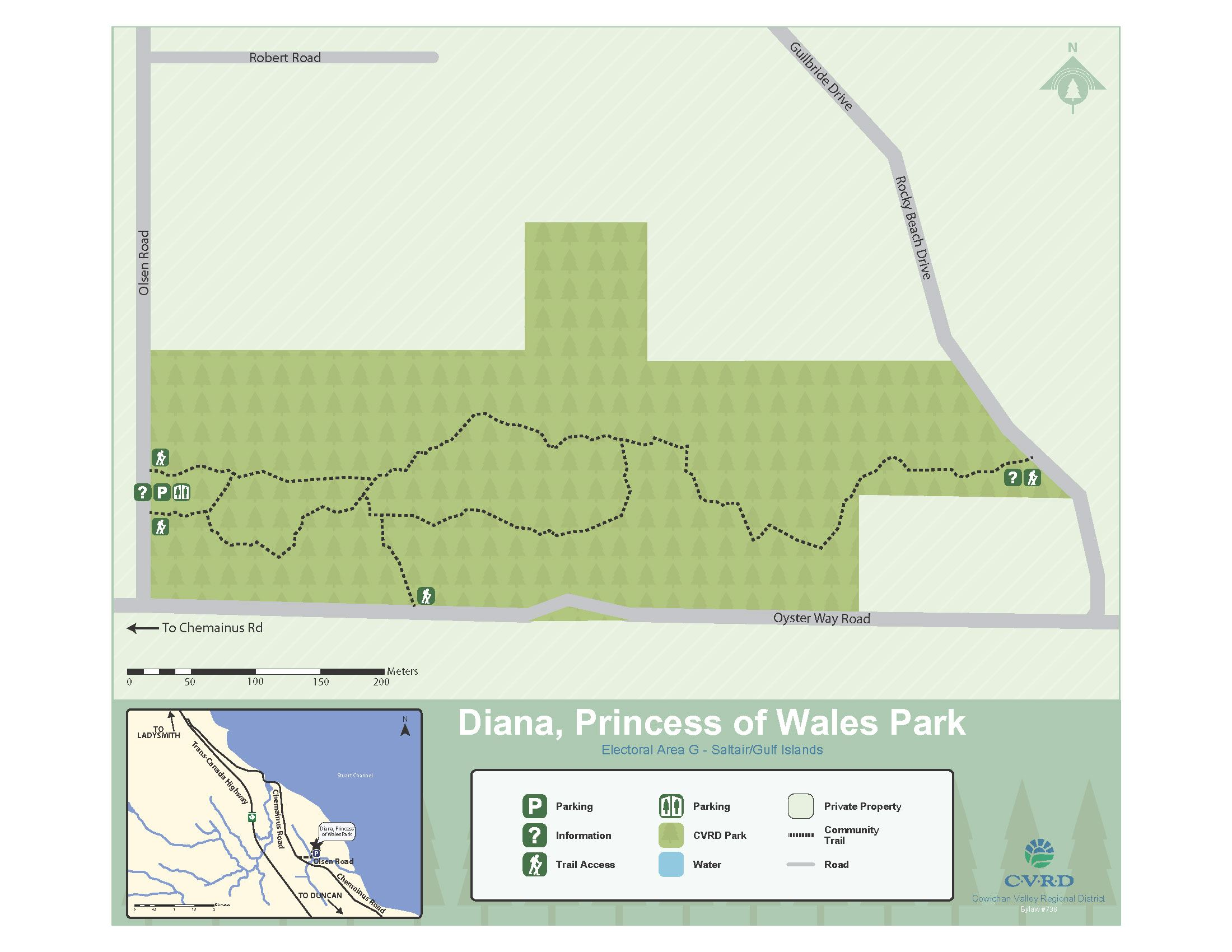 Diana Princess of Wales Park Map