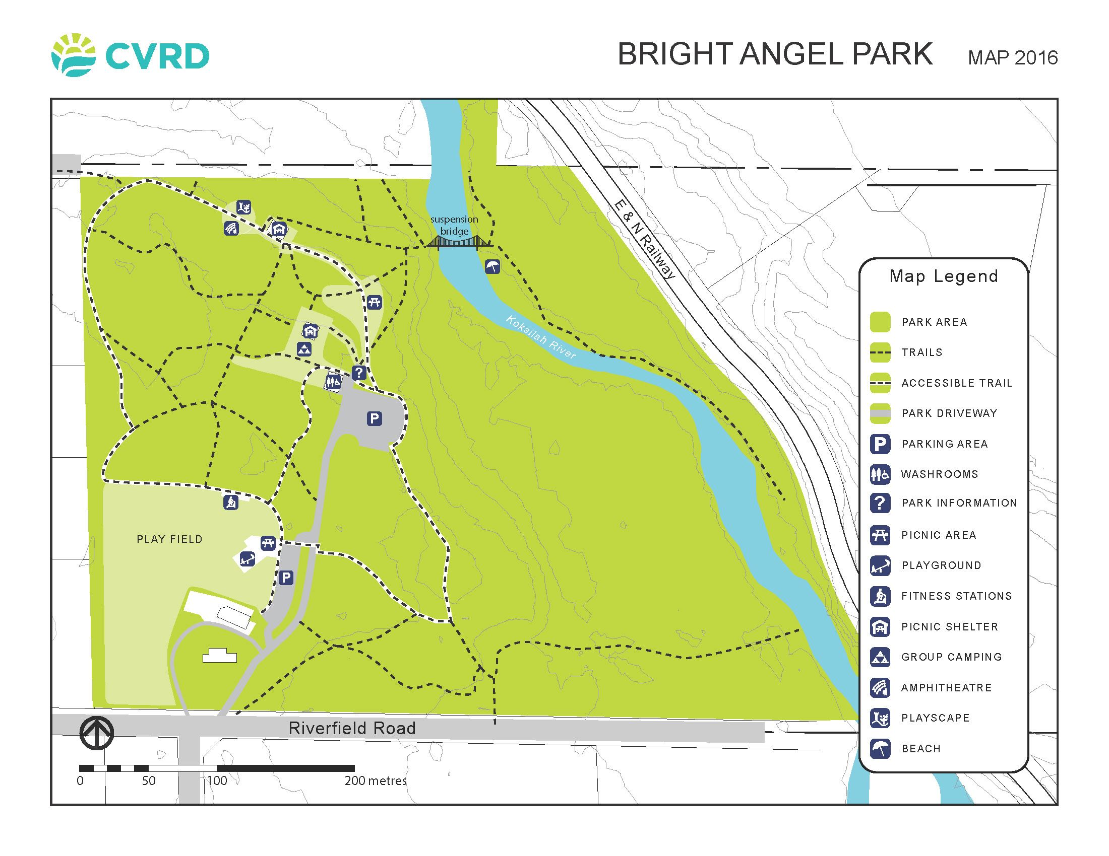 Bright Angel Park Map 2016