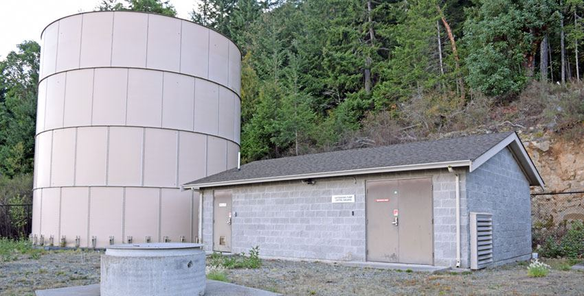 Arbutus Mountain Estates-water treatment facility