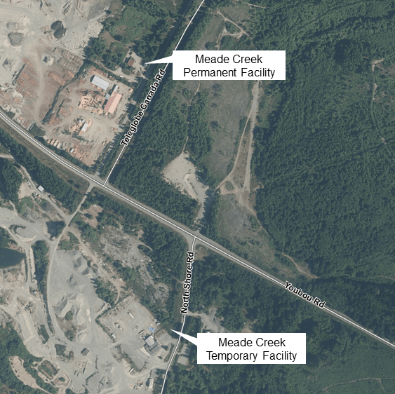 Location of Temporary Recycling Centre starting May 2, 2017