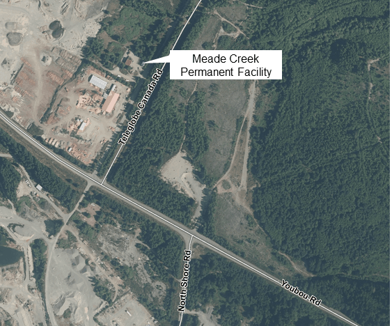 Location of Meade Creek Recycling Centre