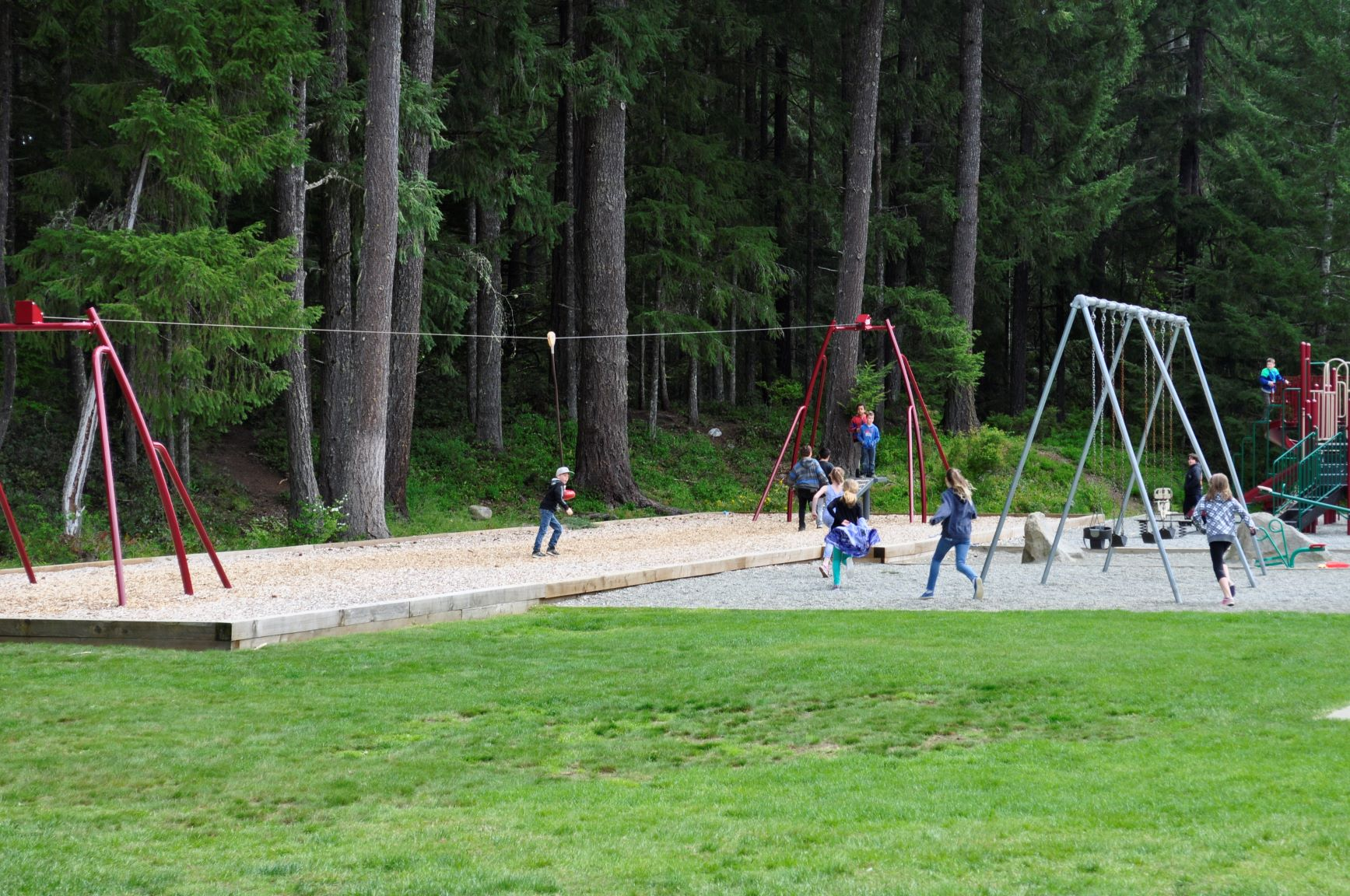 Glenora Trail Head Park playground and Zipline