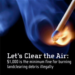 Know the rules! Open Burning, Smoke Pollution and the Law.